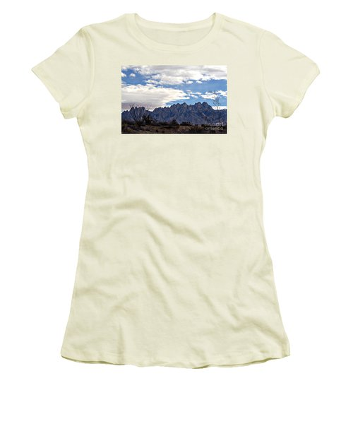 Women's T-Shirt (Junior Cut) featuring the photograph Organ Mountain Landscape by Barbara Chichester