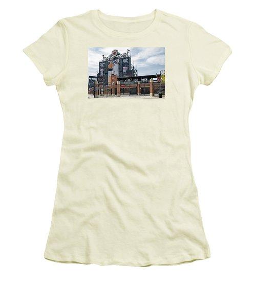 Oriole Park At Camden Yards Women's T-Shirt (Junior Cut) by Susan Candelario