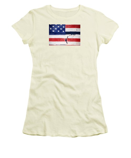 Women's T-Shirt (Junior Cut) featuring the photograph Out Of The Rubble  September 11 2001 by John Schneider