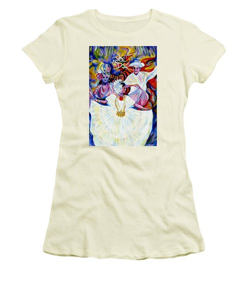Panama Carnival. Fiesta Women's T-Shirt (Athletic Fit)