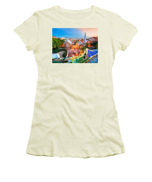 Park Guell In Barcelona - Spain Women's T-Shirt (Junior Cut) by Luciano Mortula