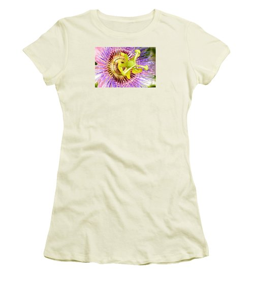 Passiflora The Passion Flower Women's T-Shirt (Junior Cut) by Olga Hamilton