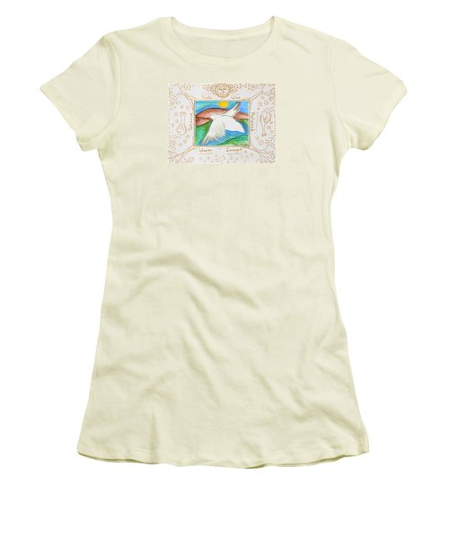 Women's T-Shirt (Junior Cut) featuring the painting Peace Of Heaven by Cassie Sears