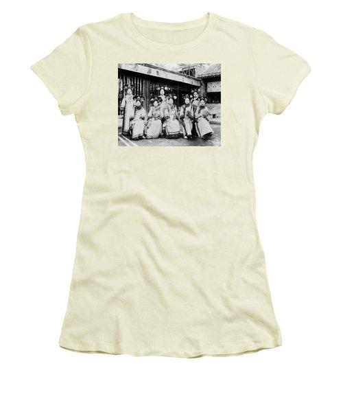 Women's T-Shirt (Junior Cut) featuring the photograph Peking Palace Women by Granger