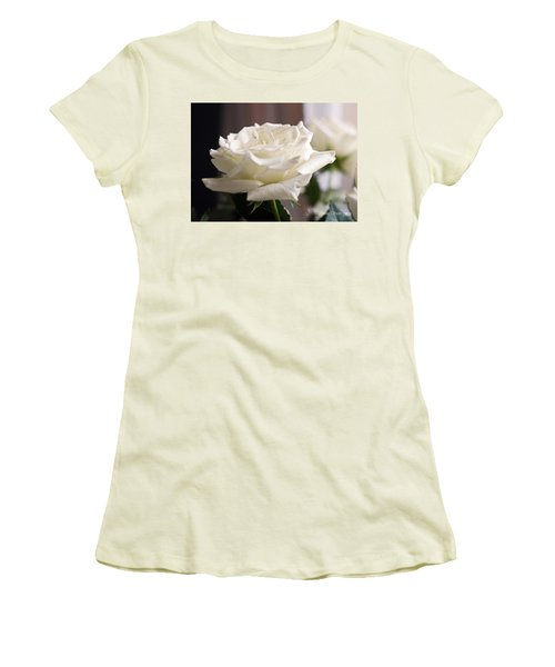 Perfect White Rose Women's T-Shirt (Athletic Fit)