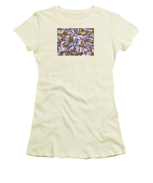 Periwinkles Muscles And Clams Women's T-Shirt (Junior Cut) by Elizabeth Dow