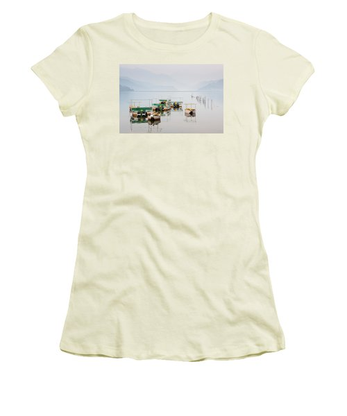 Phewa Lake In Pokhara Nepal Women's T-Shirt (Athletic Fit)