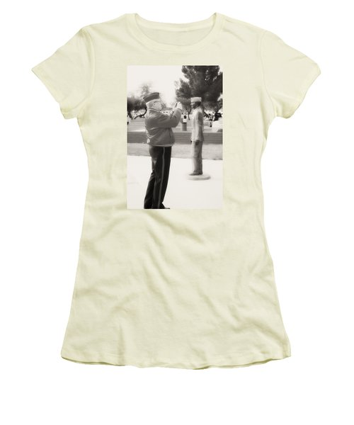 Photographing Ira Hayes Women's T-Shirt (Athletic Fit)