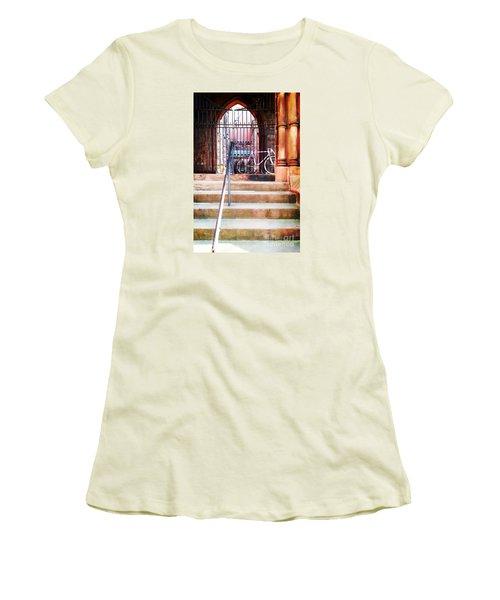 Pink Goes To Church Women's T-Shirt (Junior Cut) by Joseph J Stevens