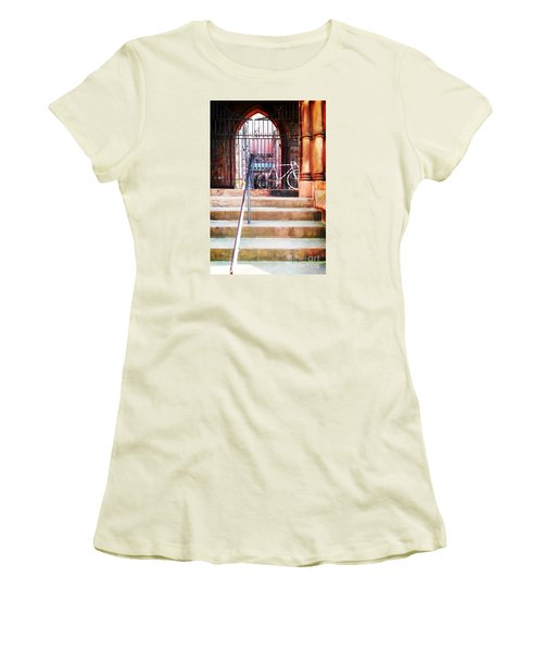 Pink Goes To Church Women's T-Shirt (Athletic Fit)