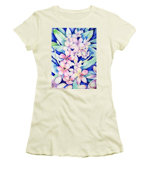 Plumerias Of Maui Women's T-Shirt (Athletic Fit)