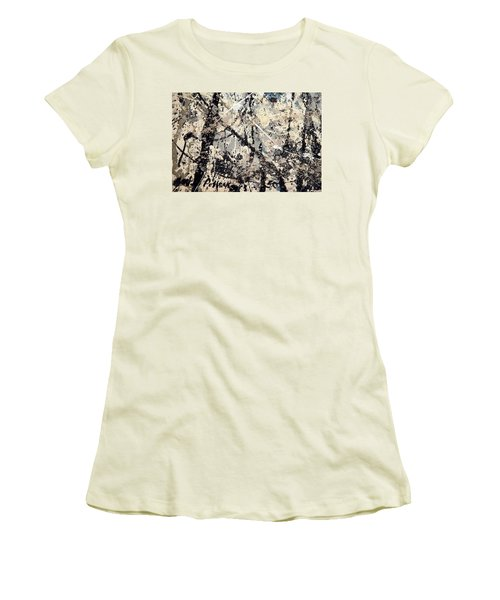 Pollock's Name On Lavendar Mist Women's T-Shirt (Athletic Fit)