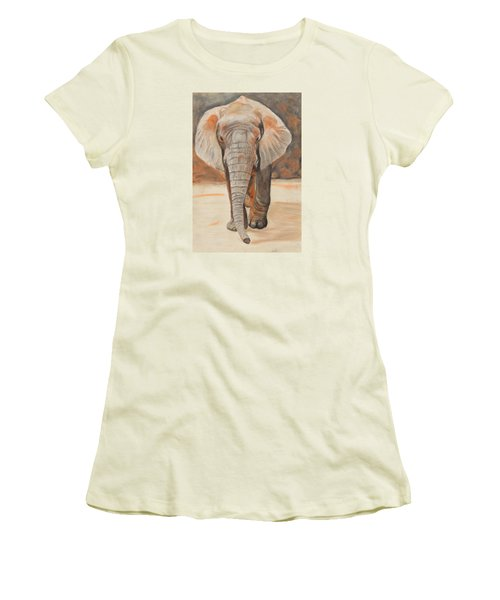 Portrait Of An Elephant Women's T-Shirt (Athletic Fit)