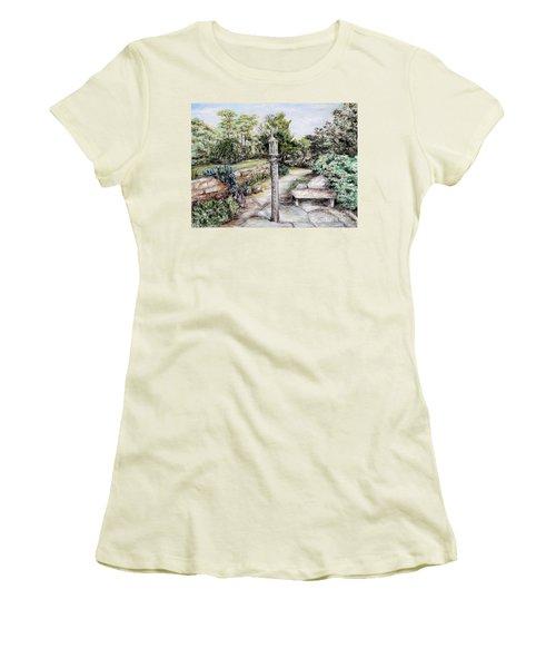 Prayer Wheel Women's T-Shirt (Junior Cut) by Danuta Bennett