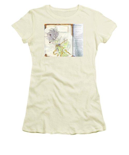 Women's T-Shirt (Junior Cut) featuring the painting Princess Altiana Aka Rokeisha by Shawn Dall