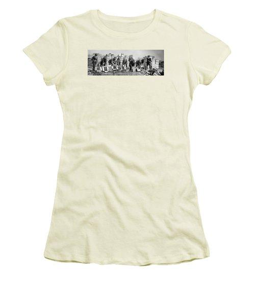 Prohibition Feds Destroy Liquor  1923 Women's T-Shirt (Athletic Fit)