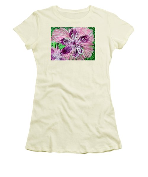 Psychedelic Flower Women's T-Shirt (Athletic Fit)