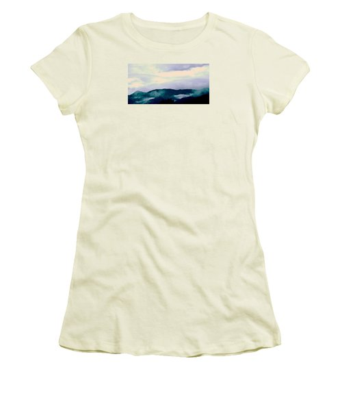 Purple Mountains Majesty Blue Ridge Mountains Women's T-Shirt (Junior Cut) by Kathy Barney
