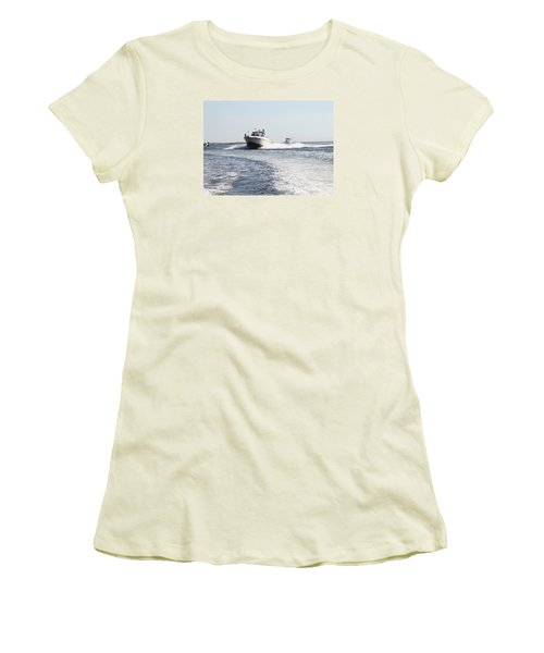 Racing To The Docks Women's T-Shirt (Athletic Fit)