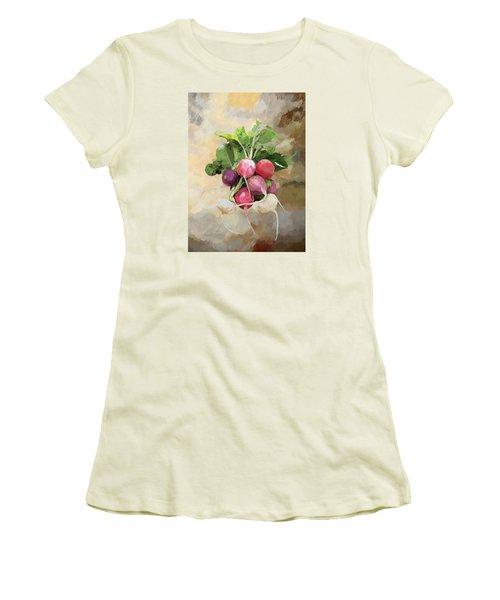Radishes Women's T-Shirt (Junior Cut) by Enzie Shahmiri