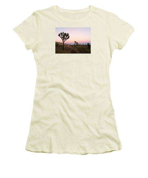 Women's T-Shirt (Junior Cut) featuring the photograph Rainbow Morning by Angela J Wright
