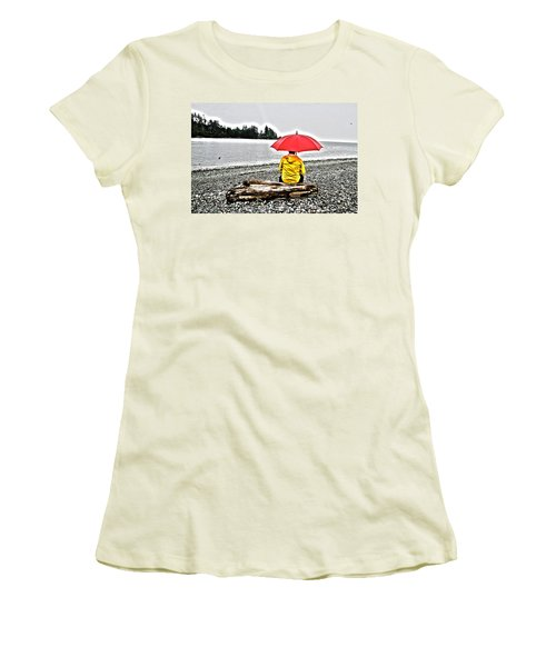Rainy Day Meditation Women's T-Shirt (Athletic Fit)