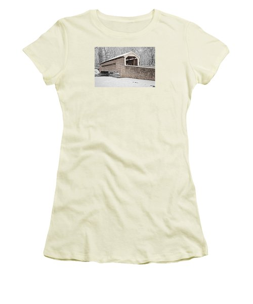 Rapps Bridge In Winter Women's T-Shirt (Athletic Fit)