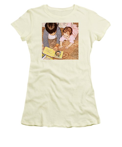 Story Time Women's T-Shirt (Athletic Fit)