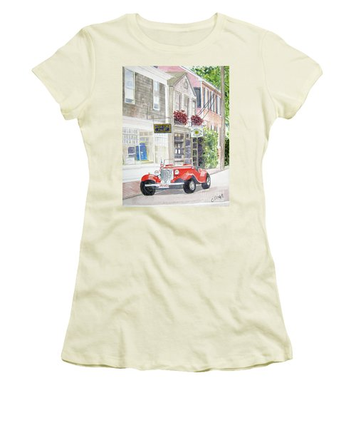 Red Car Women's T-Shirt (Junior Cut)