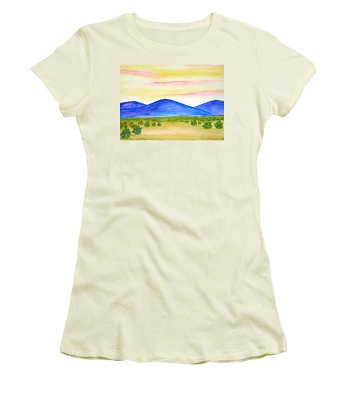 Red Clouds Over Mountains Women's T-Shirt (Athletic Fit)