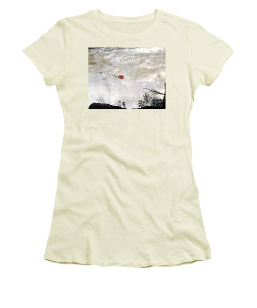 Women's T-Shirt (Junior Cut) featuring the photograph Red Paddle by Carol Lynn Coronios