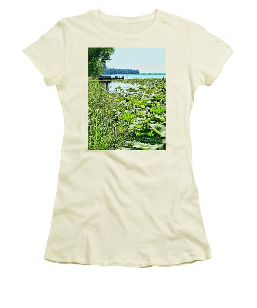 Reelfoot Lake Lilly Pads Women's T-Shirt (Athletic Fit)