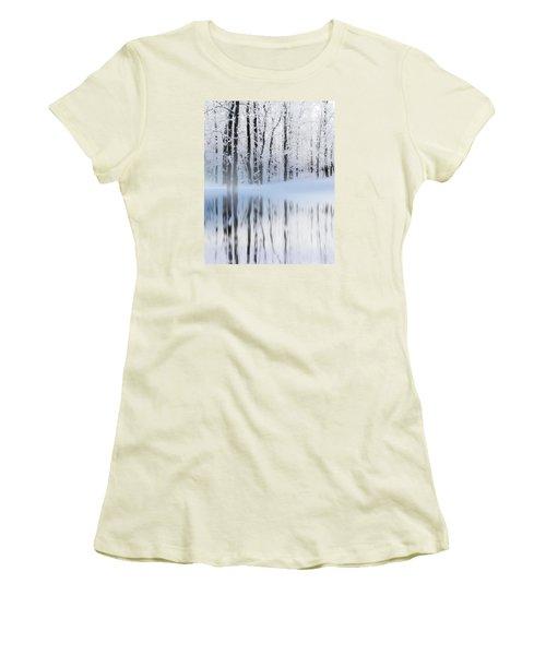 Reflection On A Dream Collingwood, On Women's T-Shirt (Junior Cut) by Andrea Kollo