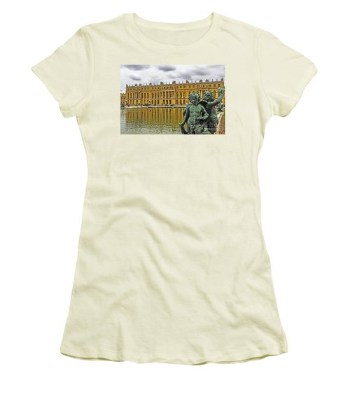 Reflection Pool Of Versailles Women's T-Shirt (Athletic Fit)
