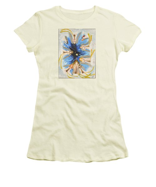 Women's T-Shirt (Junior Cut) featuring the painting Revelation 8-11 by Cassie Sears