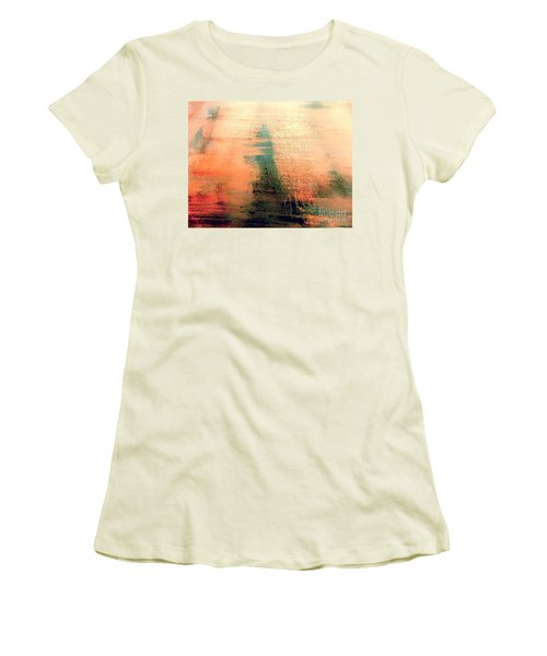 Women's T-Shirt (Junior Cut) featuring the painting Rise by Jacqueline McReynolds