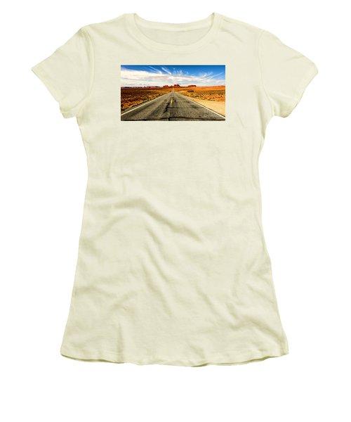 Road To Navajo Women's T-Shirt (Junior Cut) by Jason Abando
