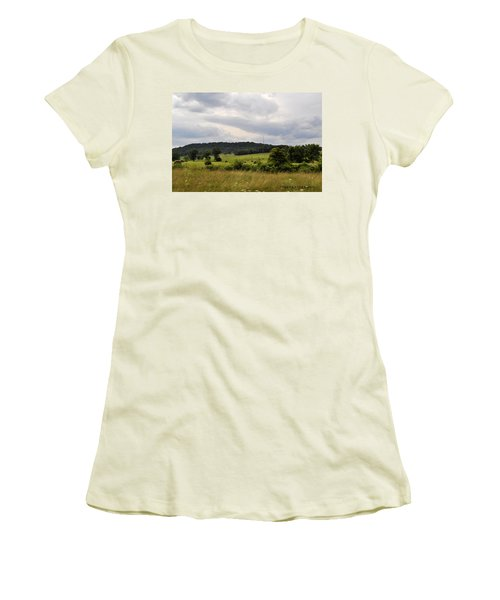 Women's T-Shirt (Junior Cut) featuring the photograph Road Trip 2012 by Verana Stark