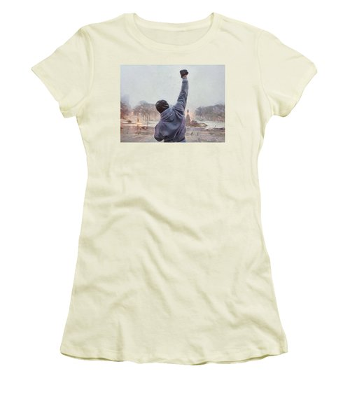 Rocky Balboa Women's T-Shirt (Athletic Fit)