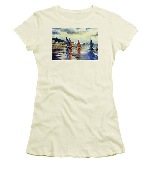 Sailing At Penarth Women's T-Shirt (Athletic Fit)