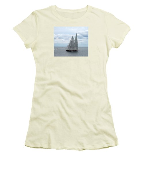 Sailing Day Women's T-Shirt (Junior Cut) by Catherine Gagne