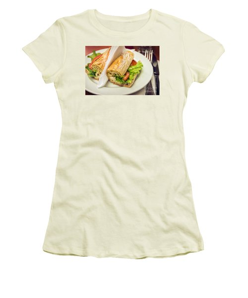 Sandwish On Table Women's T-Shirt (Junior Cut) by Carlos Caetano