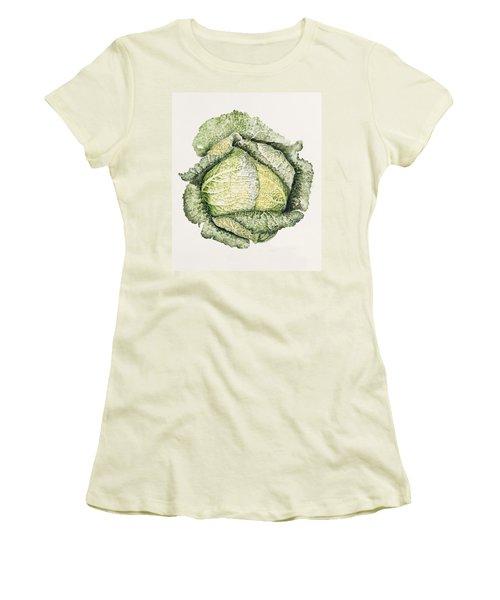 Savoy Cabbage  Women's T-Shirt (Junior Cut) by Alison Cooper