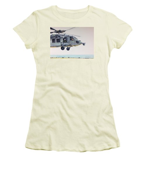 Women's T-Shirt (Junior Cut) featuring the painting Sea Hawk by Stan Tenney