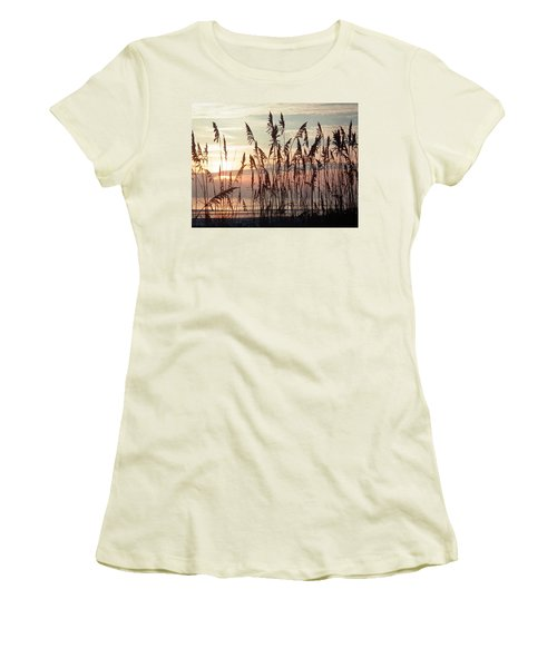 Fabulous Blue Sea Oats Sunrise Women's T-Shirt (Athletic Fit)
