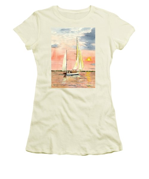 Sea Star Women's T-Shirt (Junior Cut) by Melly Terpening