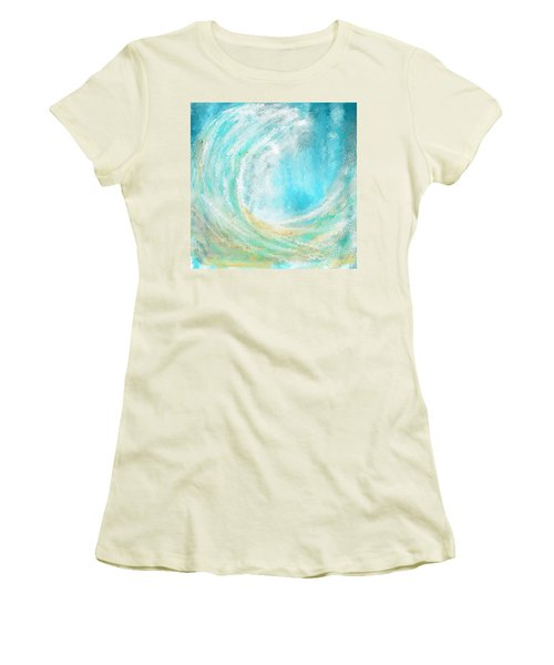Seascapes Abstract Art - Mesmerized Women's T-Shirt (Athletic Fit)