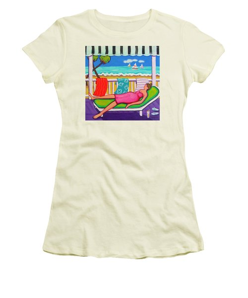 Seaside Siesta Women's T-Shirt (Junior Cut) by Rebecca Korpita