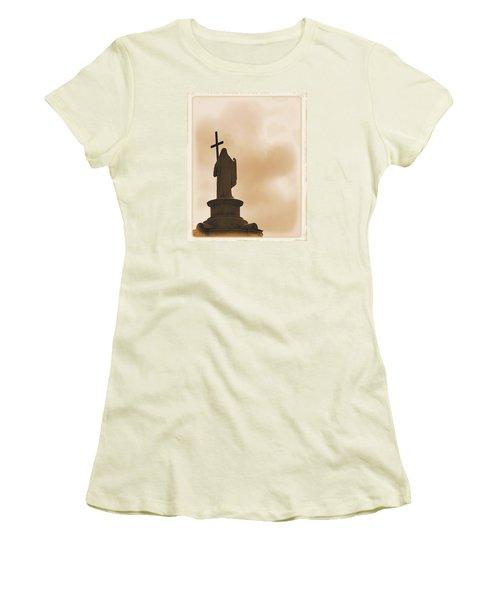 Women's T-Shirt (Junior Cut) featuring the photograph Seeking The Divine by Nadalyn Larsen