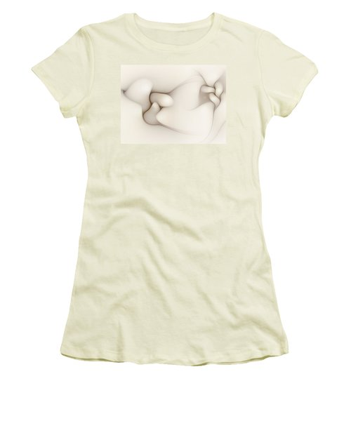 Women's T-Shirt (Junior Cut) featuring the digital art Sensual Manifestations 4 by Casey Kotas